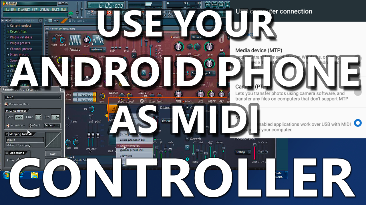 Android 6 USB as midi controller or control your music