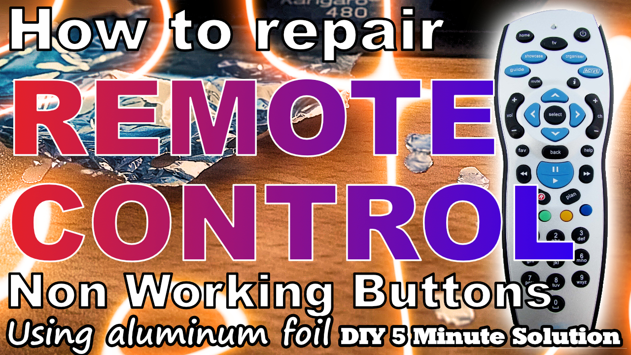 Repair your remote control non working buttons with just